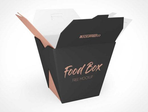 Chinese Food Take-Out Box PSD Mockup
