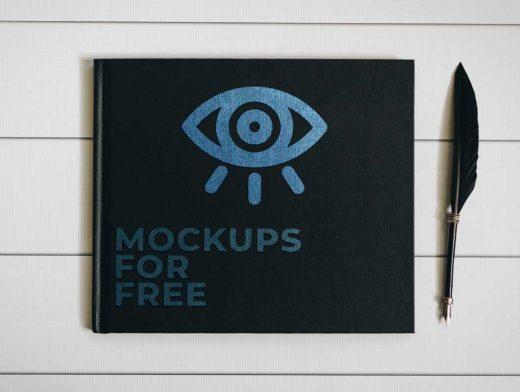 Closed Square Hardcover Book PSD Mockup