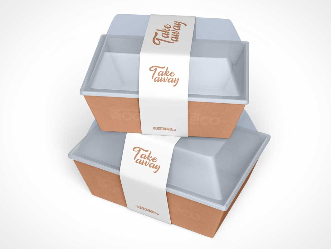 Fast-Food Take-Out Container PSD Mockup