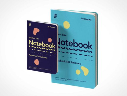 Lined paper Notebook & Pocketbook PSD Mockup