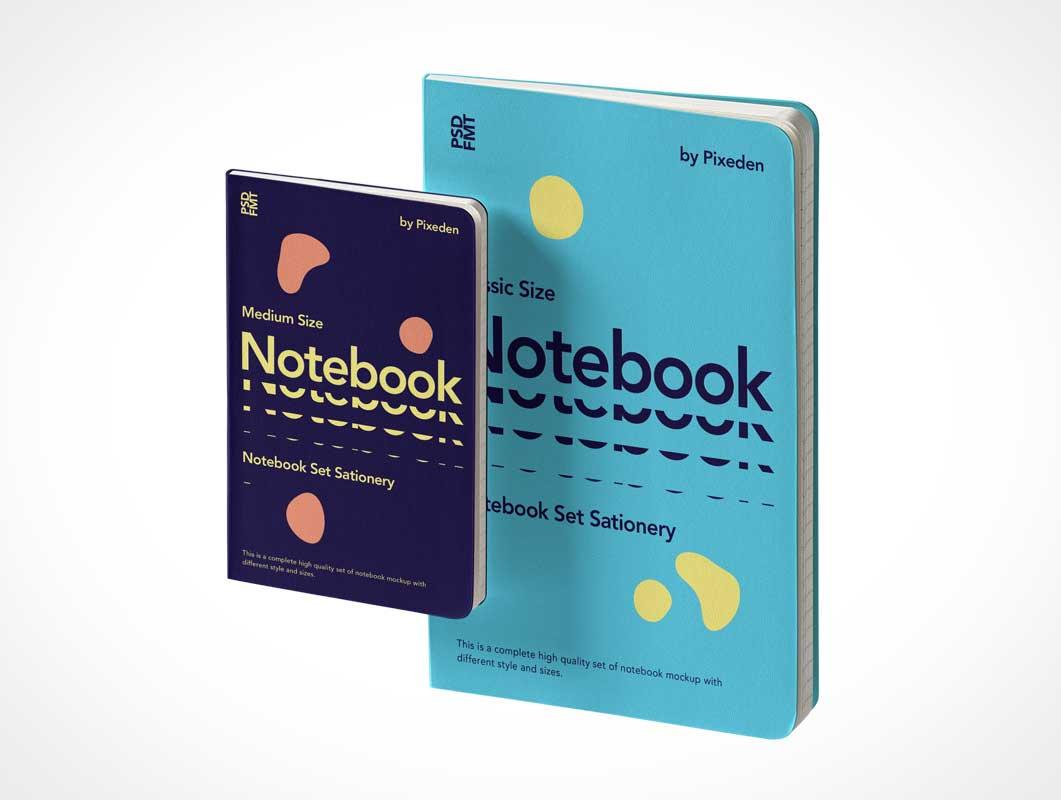 Lined paper Notebook & Pocketbook PSD Mockup