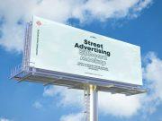 Roadside Landscape Billboard Advertising PSD Mockup