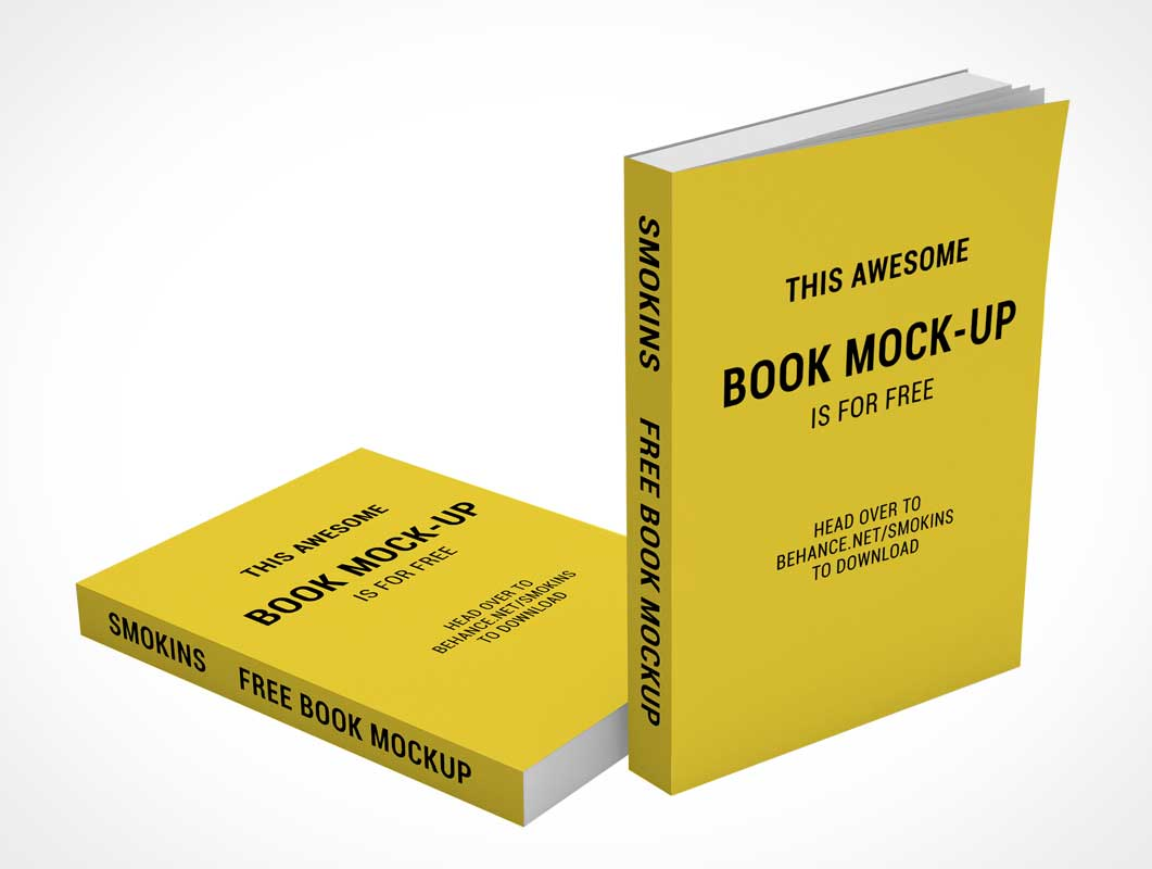 Softcover Paperback Books PSD Mockup