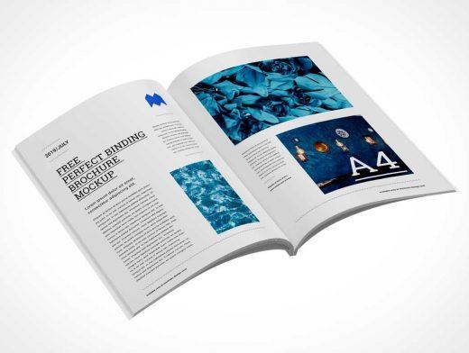 A4 Brochure Magazine PSD Mockup