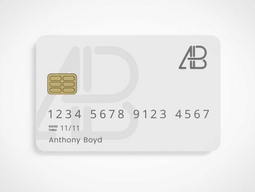 Bank Credit Card & RFID Chip PSD Mockup
