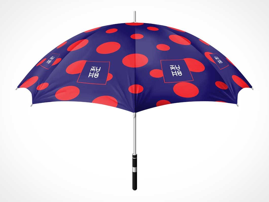 Cloth Umbrella & Long Handle PSD Mockup