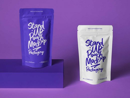 Sealed Foil Pouch Packaging PSD Mockup