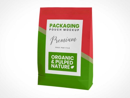Sealed Pouch Packet Packaging PSD Mockup