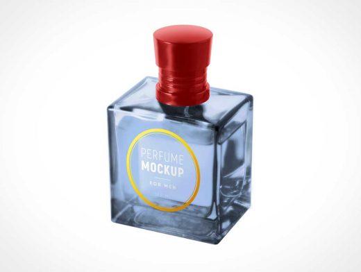 Spice Perfume Glass Bottle for Men PSD Mockup