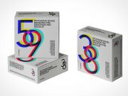 Square Jewel Box Packaging PSD Mockup