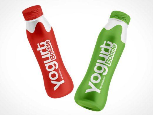 Yogurt Drink Snack Bottle PSD Mockup