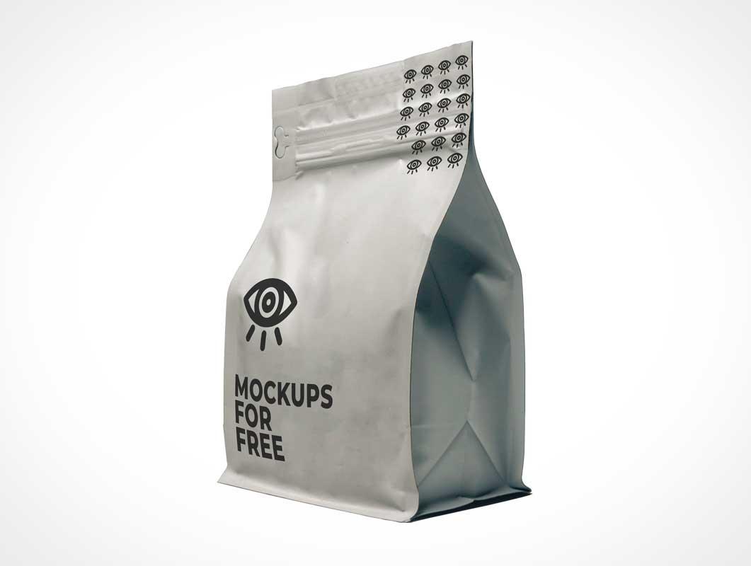 Ziplock Sealed Airtight Foil Pouch PSD Mockup