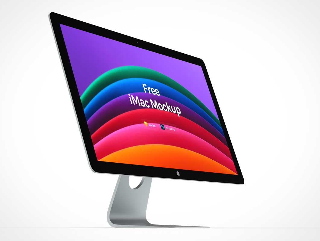 5K iMac Computer Display Screen PSD Mockup