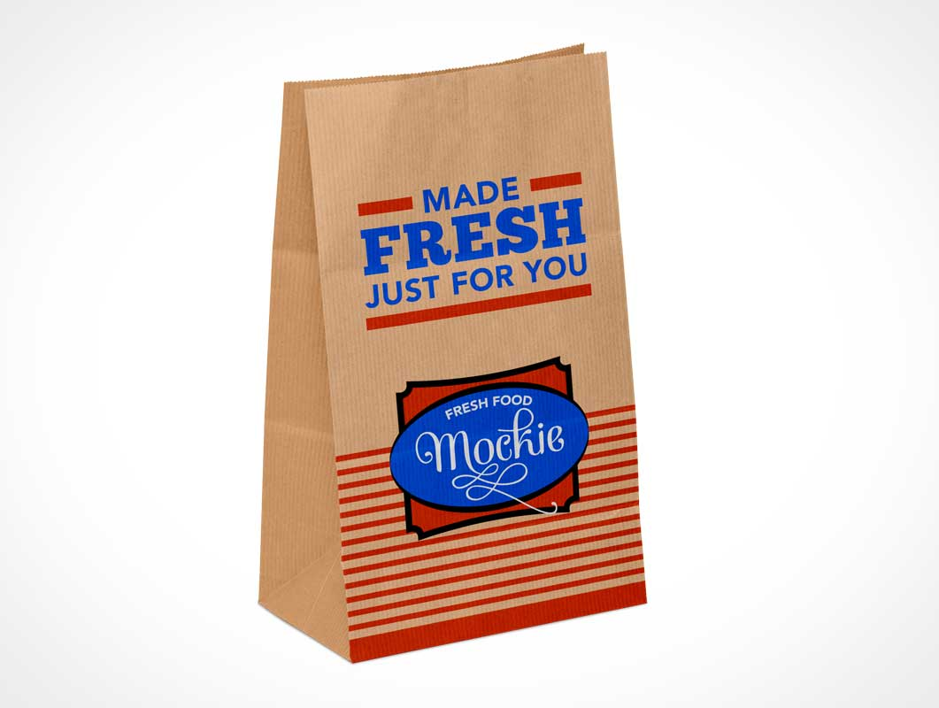 Brown Paper Grocery Bag PSD Mockup
