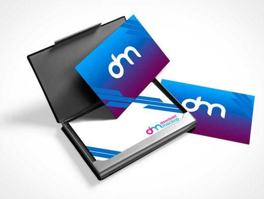Business Card Case PSD Mockup