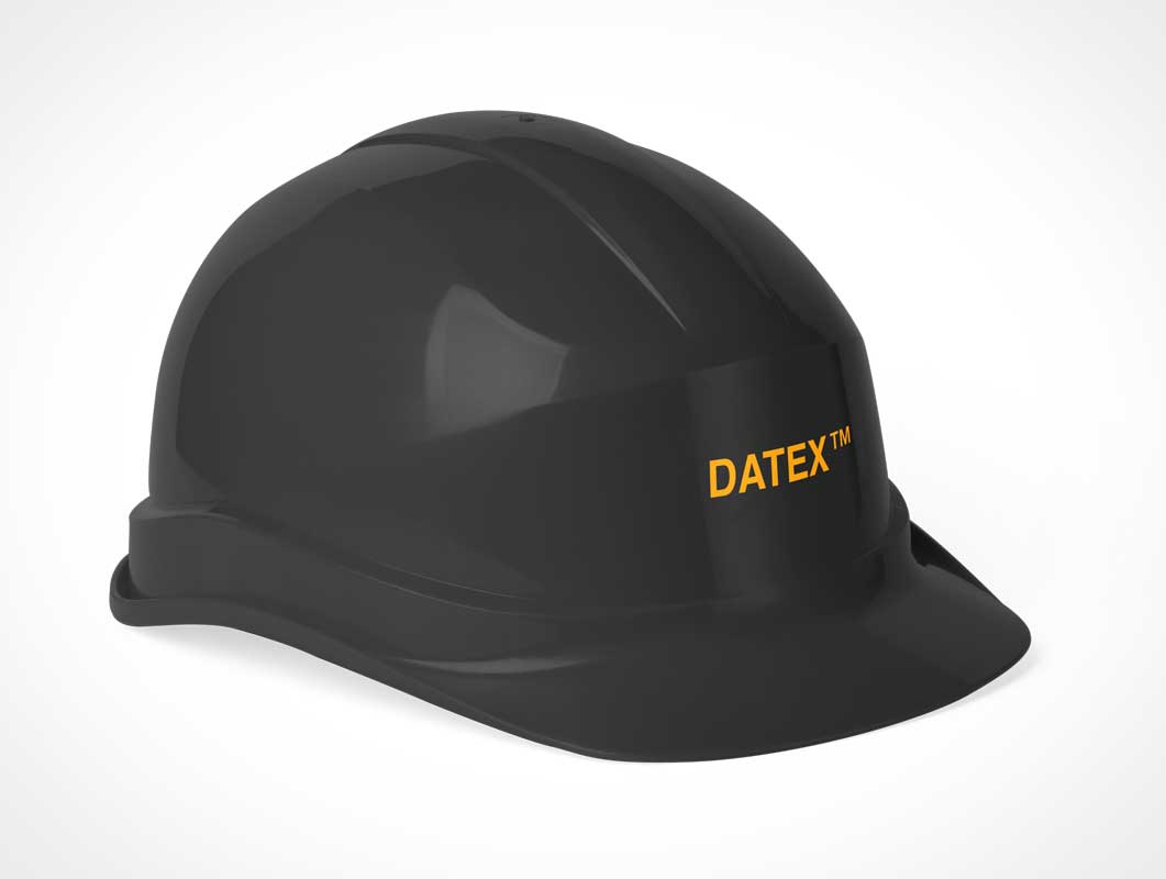 Construction Worker Safety Helmet PSD Mockup