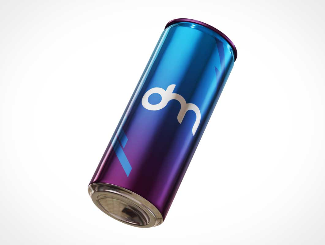 Energy Drink Aluminium Soda Can PSD Mockup