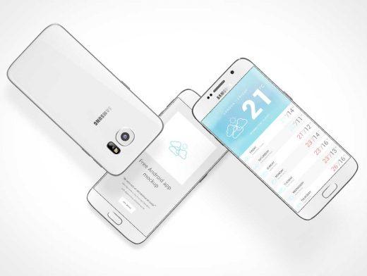 Mobile Android Samsung Smartphone PSD Mockup