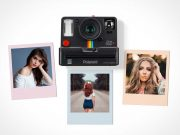 Polaroid Camera Photo & Pictures PSD Mockup