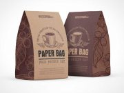 Recycled Kraft Paper Lunch Bag PSD Mockup
