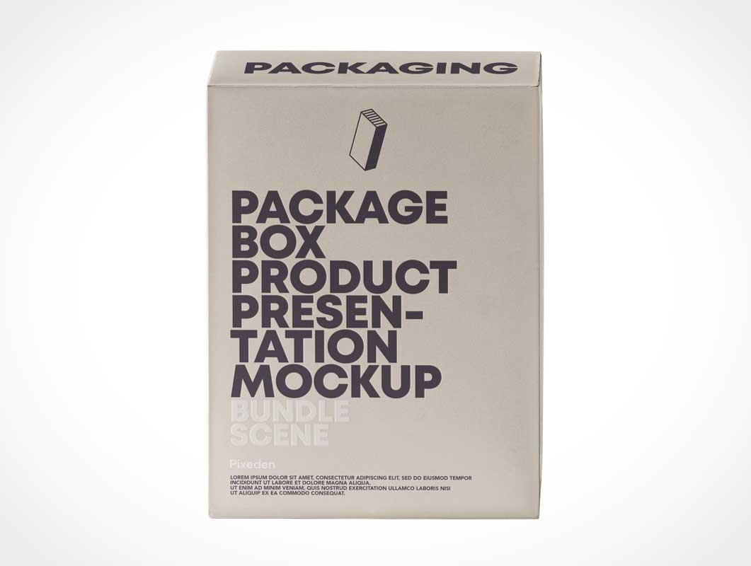 Small Presentation Box Packaging PSD Mockup