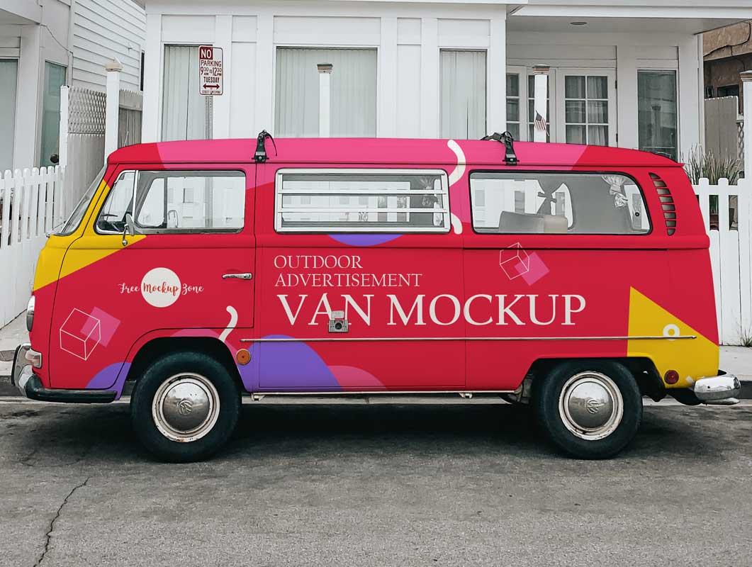 VW Camper Van PSD Mockup