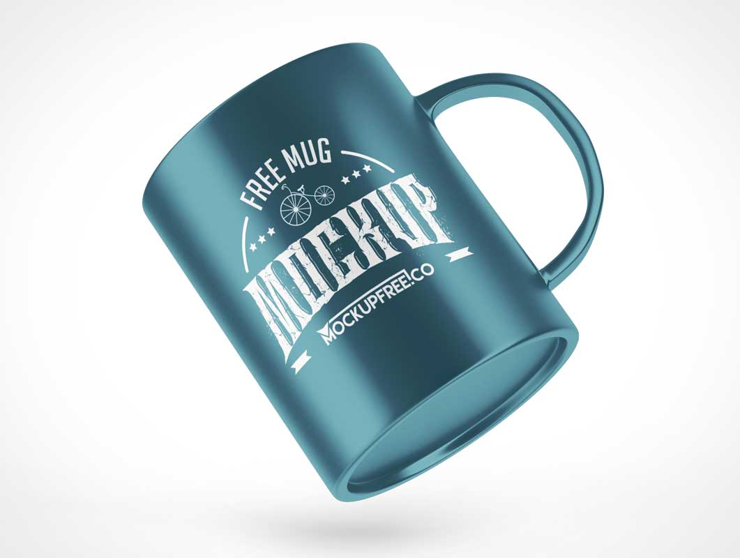 11oz Ceramic Coffee Cup Mug PSD Mockup