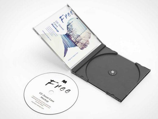 Black Tray CD Jewel Case PSD Mockup