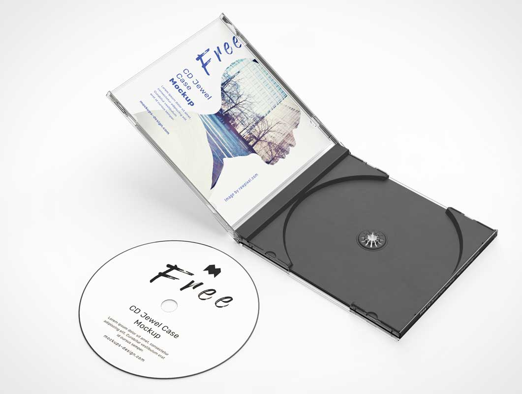 Black Tray CD Jewel Case PSD Mockup