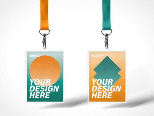Event Show ID Lanyards PSD Mockup