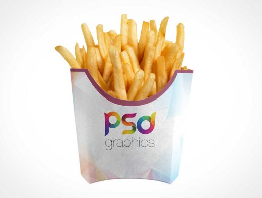 Fast Food French Fries & Packaging PSD Mockup