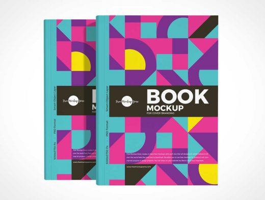 Hardback Book Front Covers PSD Mockup