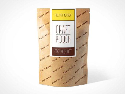 Heat Sealable Kraft Paper Ziplock Pouch PSD Mockup