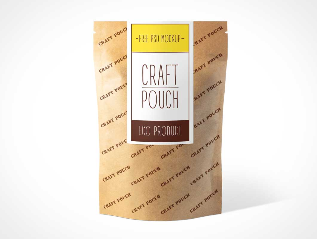 Heat Sealable Kraft Paper Ziplock Pouch PSD Mockup