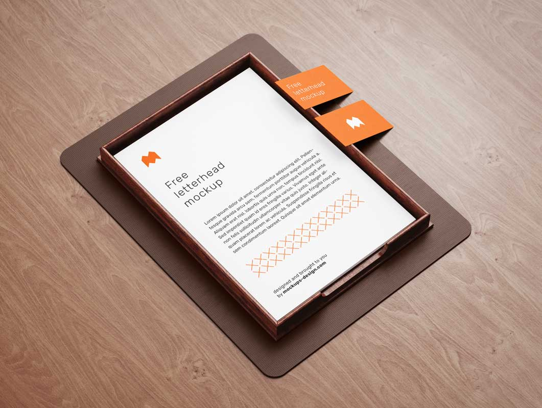 Stationery Letterhead, Business Cards & Inbox PSD Mockup