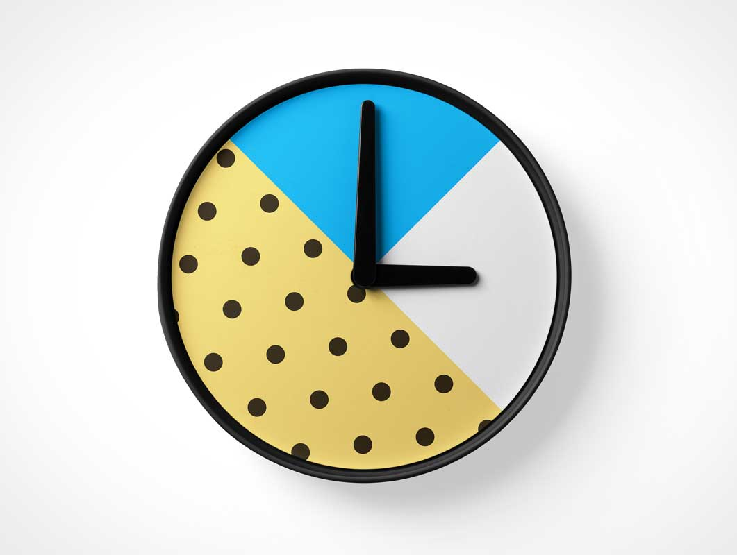 Analog Wall Clock PSD Mockup