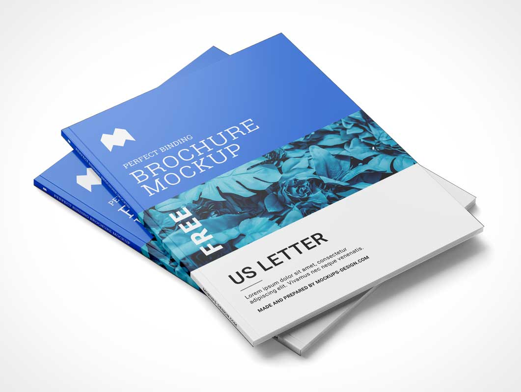 Binding Brochure Magazine PSD Mockup