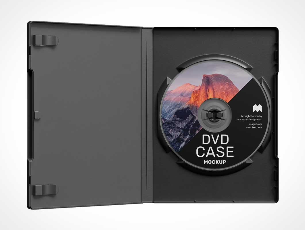 DVD Blu-ray Movie Jewel Case PSD Mockup