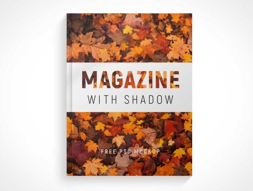 Glossy Softcover Magazine Front PSD Mockup