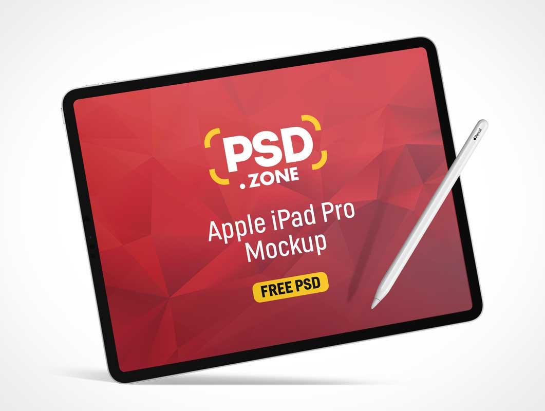 iPad Pro Tablet & Stylus PSD Mockup