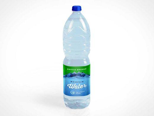 1L Mineral Water Plastic Bottle PSD Mockup