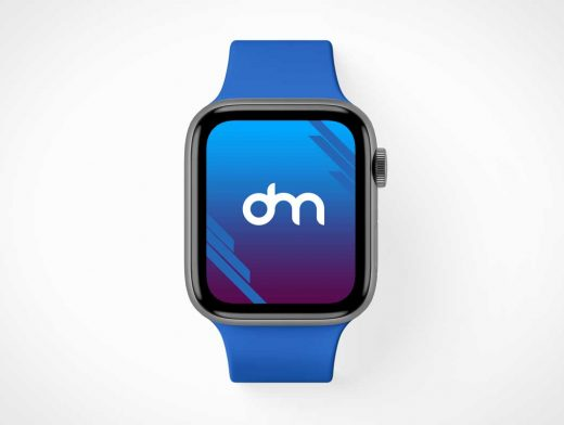 Apple iWatch Series 5 & Wristband PSD Mockup