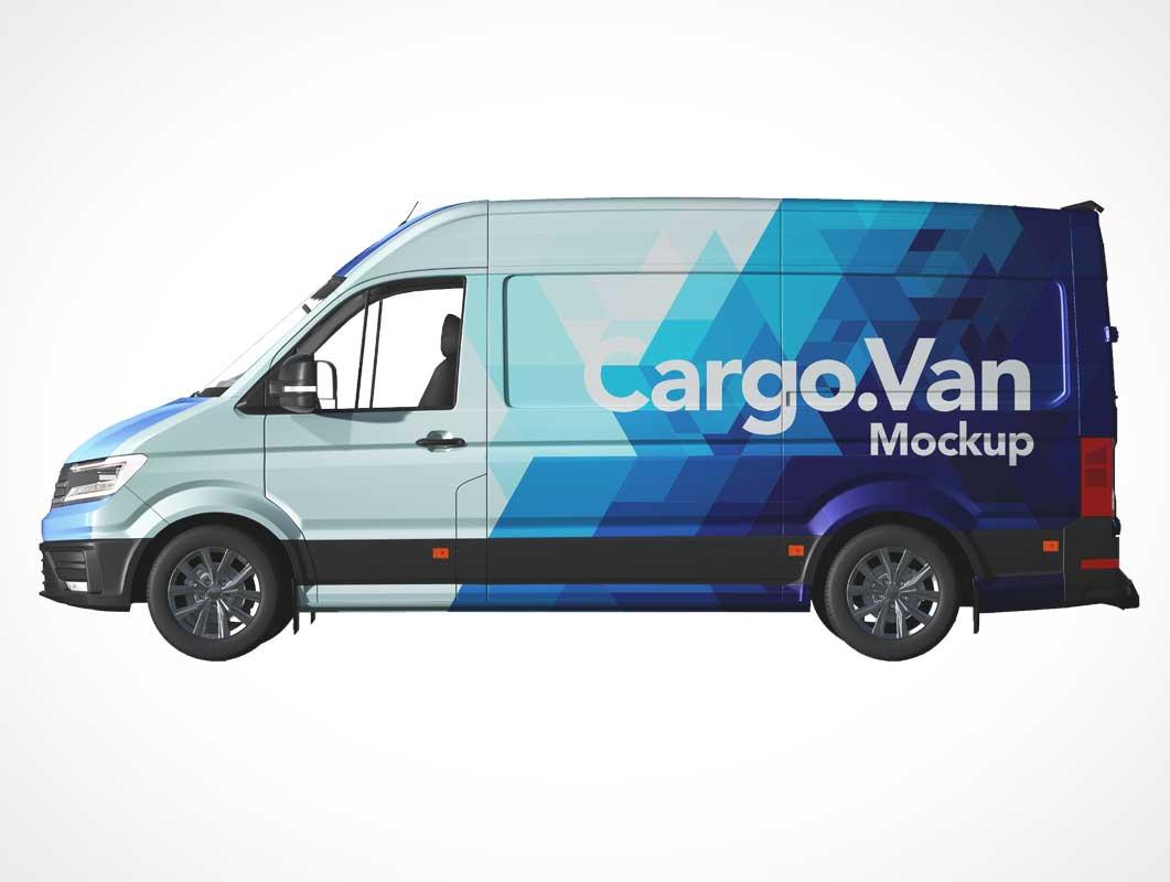 Cargo Delivery Van PSD Mockup