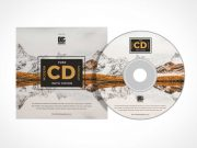 Compact Music CD & Sleeve Jacket PSD Mockup