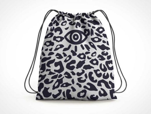 Drawstring Bag PSD Mockup