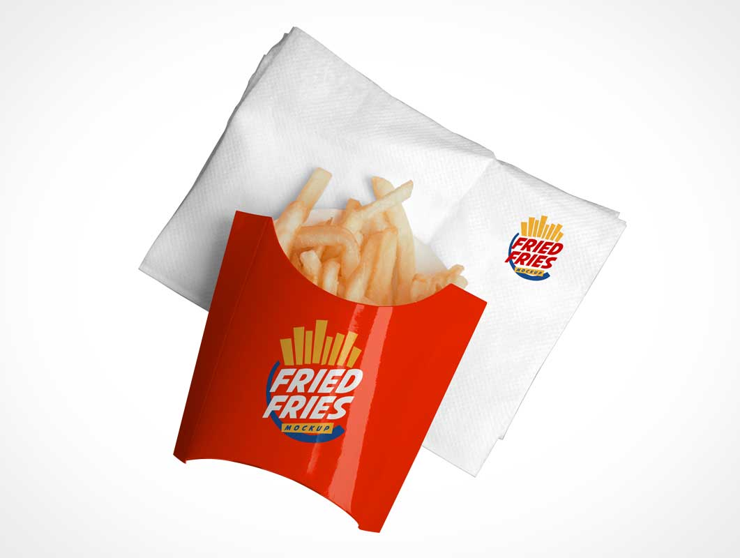 French Fries Packaging PSD Mockups