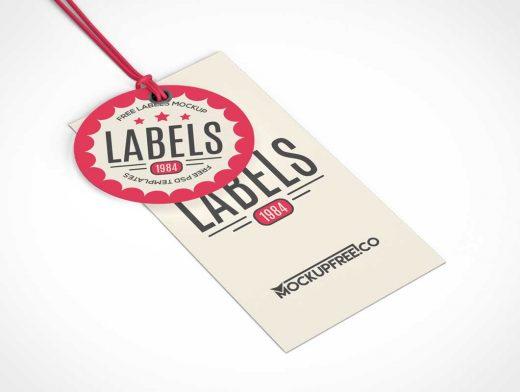 Garment Clothing Sales Tags PSD Mockup