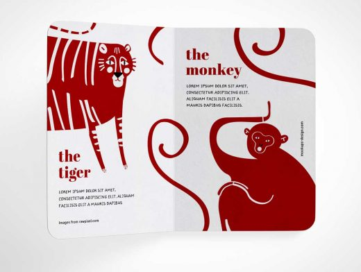 Hardcover Children's Book PSD Mockup
