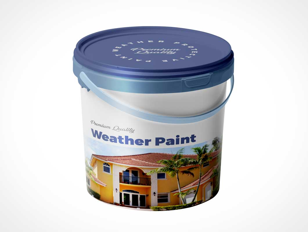 Paint Bucket & Carry Handle PSD Mockup