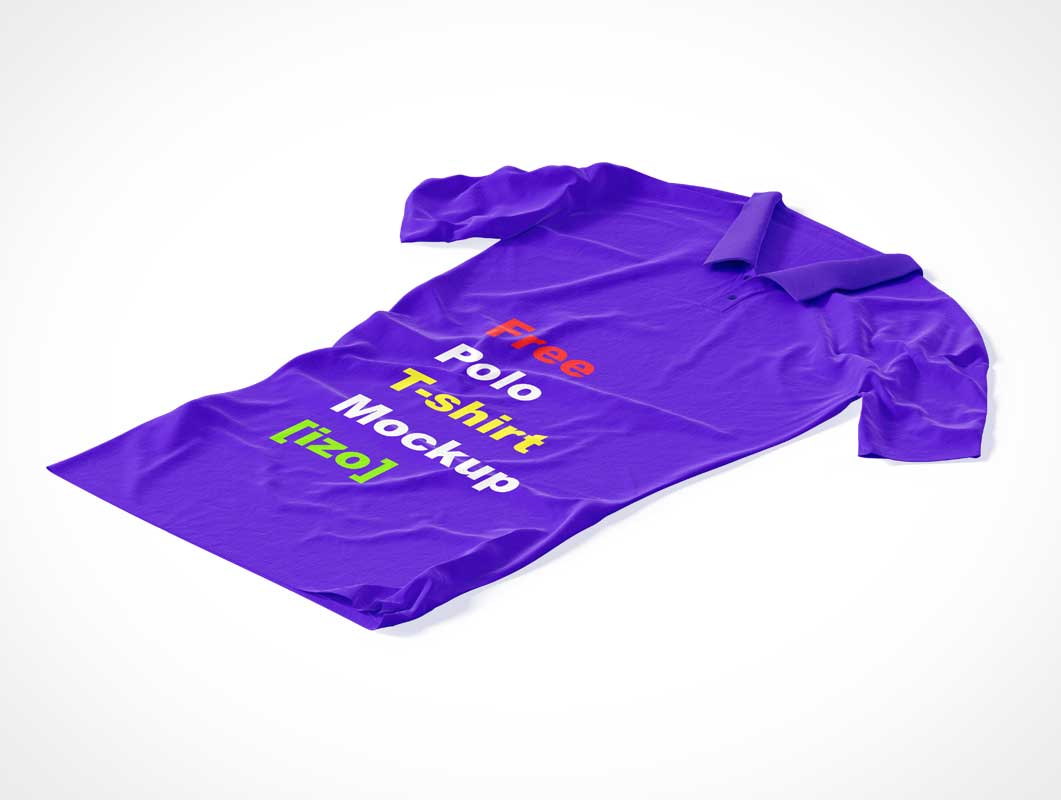 Polo T-Shirt Garment & Collar PSD Mockup